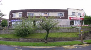 The derelict premises at Kingsway, before reconstruction