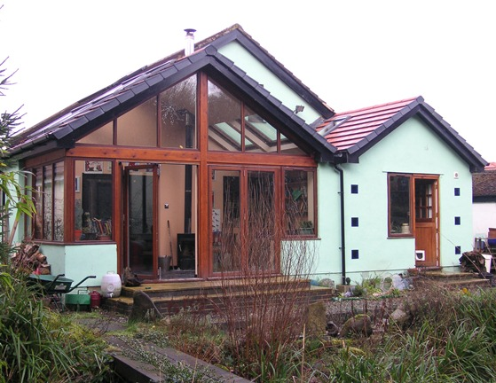 A single storey extension for a bungalow to create a sunroom and a new utility room