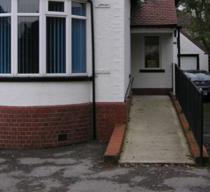 The dental practice completed with new ramp for easy wheelchair accessibility