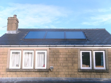 Solar Panels on an energy efficient house