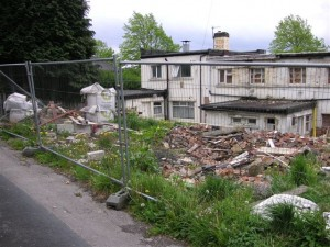 The derelict premises before it got transformed into a shop and two flats