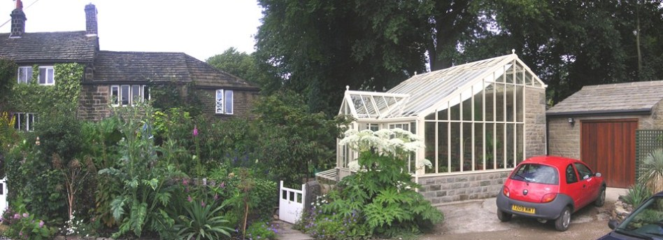 New horticultural hothouse and garage