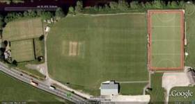 Ben Rhydding Cricket Club birds eye view before reconstruction of the new facility