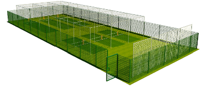Digital Plan of the triple lane cricket nets and perimeter fence