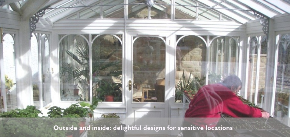 A greenhouse in West Yorkshire by R Dawson Architect based in Bingley